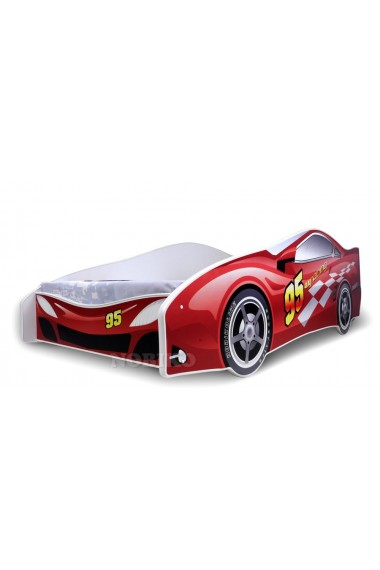 Red Racing Car Junior Bed With Mattress 180x80