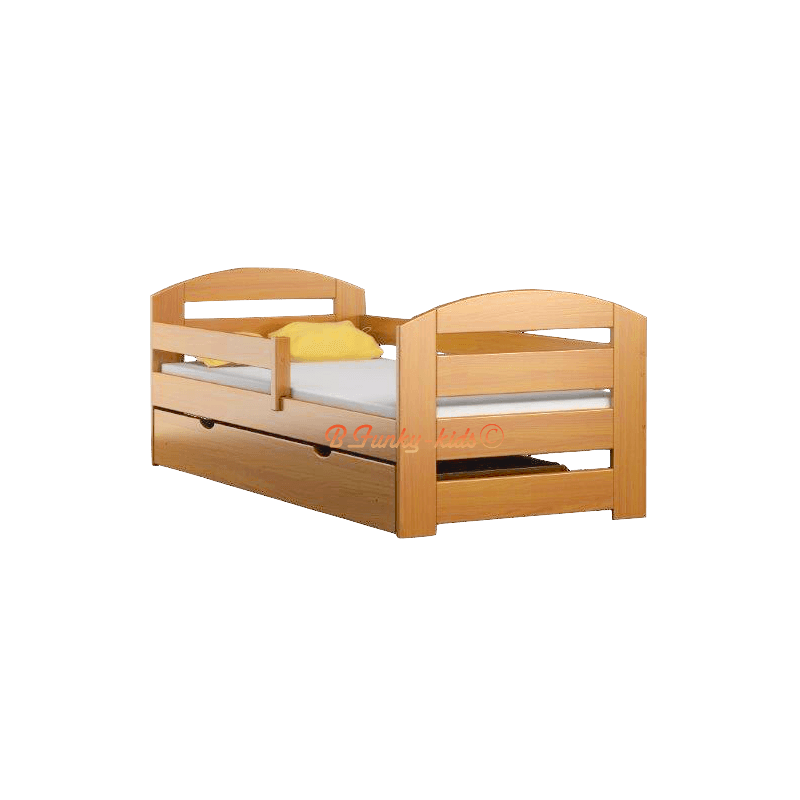 Solid Pine Wood Junior Daybed Kam3 With Drawer 160x70 Cm