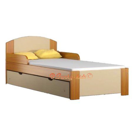 Solid Pine Wood Junior Bed With Drawer Bil1 180x80 Cm