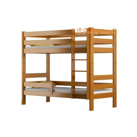 solid pine wood bunk bed casper 160x80 cm. Black Bedroom Furniture Sets. Home Design Ideas