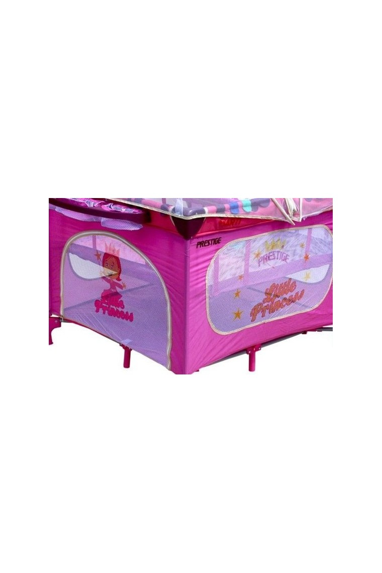 Playpen And Travel Cot Twin Doubles Square 2 In 1 Pink