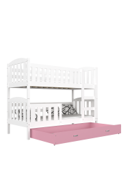 Bunk bed Jacob 2 with drawer 190x80 cm