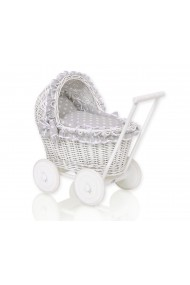 Wicker dolls pram
