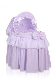 Wicker doll crib Little Princess violet