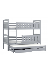 Bunk bed Beatriz for 3 person with roll-out bed 200x90 cm