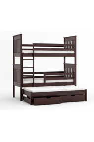 Bunk bed Juan for 3 person with roll-out bed 200x90 cm