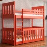 Solid pinewood bunk bed and playpen 2 in 1 Cris 180x80 cm