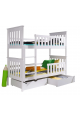 Solid pinewood bunk bed Oliver 200x90 cm