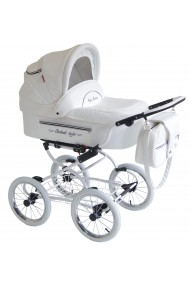Classic pram 3 in 1 Isabell White Lethrette Collection