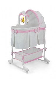 Cradle for baby Sweet Melody 4 in 1 Grey-pink
