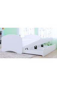 Trundle bed Happy Collection with roll-out drawer and 2 mattresses 180x90 cm