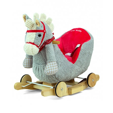 Rocking horse Polly gray-red
