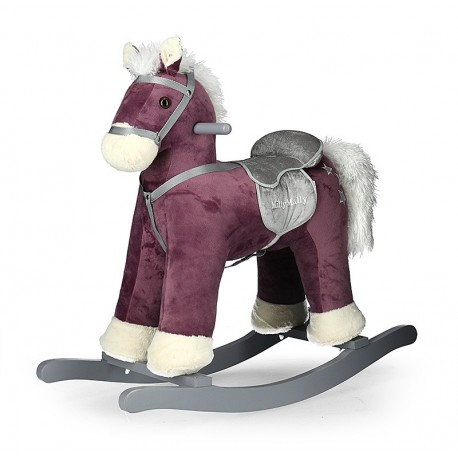 Rocking horse Pepe purple
