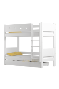 Solid pine wood bunk bed Walter 160x70 cm