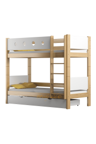 Solid pine wood bunk bed Walter 160x80 cm