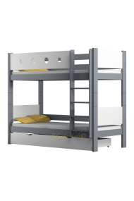 Solid pine wood bunk bed Walter 180x80 cm