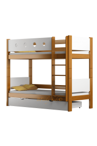 Solid pine wood bunk bed Walter 180x90 cm