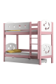 Solid pine wood bunk bed Luna 180x80 cm