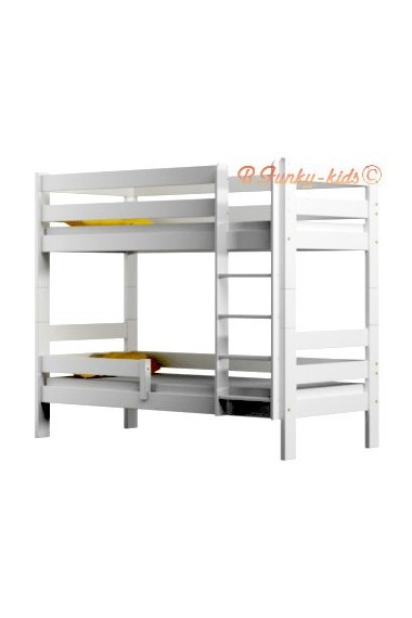 Solid pine wood bunk bed Casper 180x90 cm