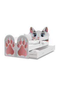 Toddler junior bed Kitty Tiger with drawer