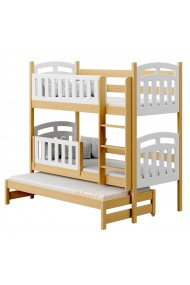 Solid pine wood bunk bed Sofia 200x90 cm