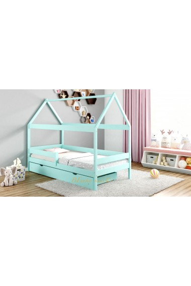 Solid pine wood bed House 200x90 cm