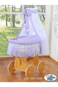 Wicker Crib Hearts - Violet