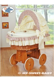 Wicker Crib Teddy - Beige