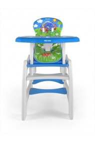 High chair with play table conversion Car
