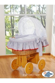 Wicker Crib Glamour - Grey