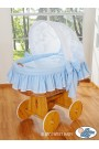 Wicker Crib Glamour - Blue