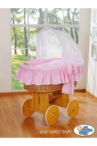 Wicker Crib Glamour - Pink