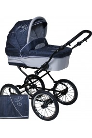 Classic pram Nelly Linen Collection 3 in 1 travel system