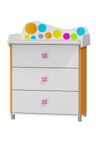 Dresser with changer Rainbow - 3 drawers