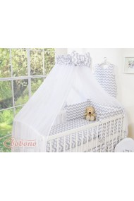 Duvet, Pillow, Bumper and Canopy set Chevron