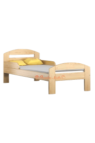 Solid pine wood bed Timmy 180x80 cm