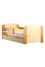Solid pine wood junior bed with drawer Kam4 160x70 cm