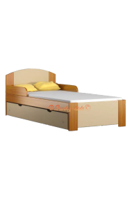 Solid pine wood junior bed with drawer Bil1 160x80 cm