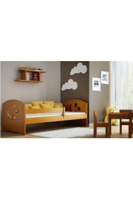 Solid pine wood junior daybed Molly with drawer 160x80 cm