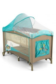 Travel cot with changer Mirage Blue Cow