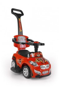 Ride-on car 3 in 1 HAPPY red