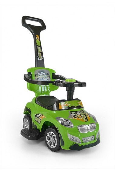 Ride-on car 3 in 1 HAPPY green