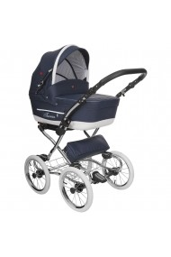 Classic pram Turran Eco Navy Leather Collection 3 in 1 travel system