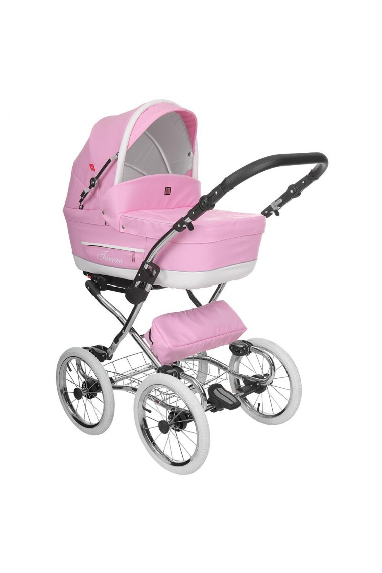 classic pram turran eco pink leather 3 in 1 travel system. Black Bedroom Furniture Sets. Home Design Ideas