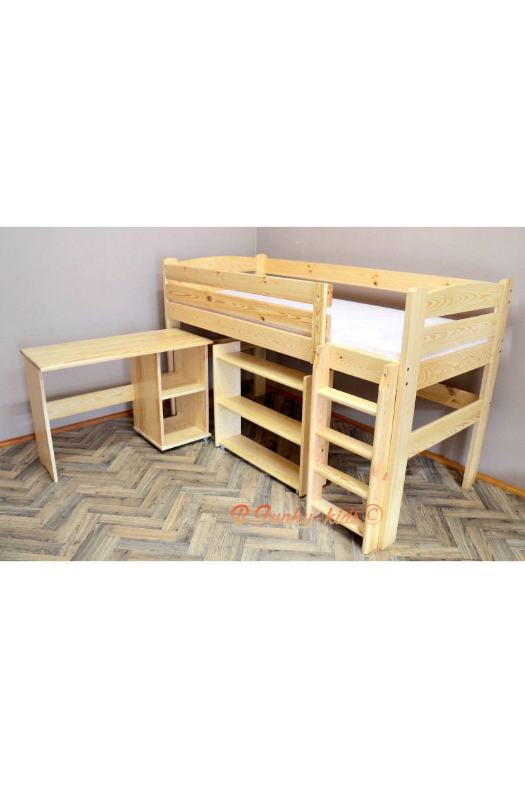 Loft Bed Mid Sleeper Bed Bella 200x90 Cm