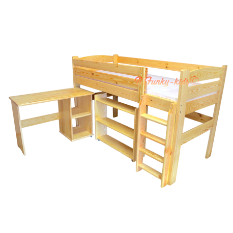 Loft bed mid sleeper bed with desk Bella 200x90 cm