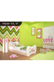 Toddler junior bed Pear Dreams Collection with drawer and mattress