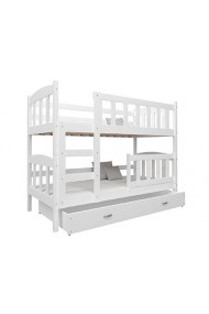 Solid pine wood bunk bed Bambi 160x70 cm