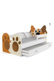 Toddler junior bed Doggie with drawer