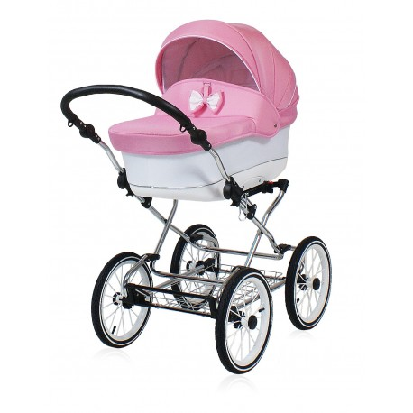Classic pram Candy Pink 3 in 1 travel system